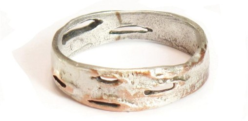 Silver Birch Bark Ring